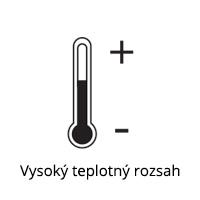 Vysoký teplotný rozsah